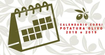 Calendario Dei Trattamenti Dellolivo.Corso Potatura Olivo Calendario 2018 2019